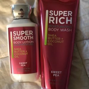Bath and body works Sweet Pea gift set